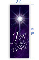 2x5 Vertical Church Banner of Joy To the World