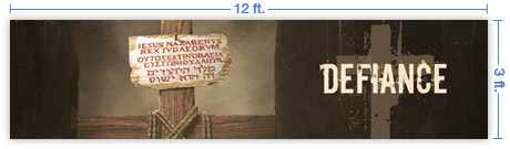 12x3 Horizontal Church Banner of King of the Jews