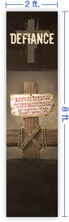 2x8 Vertical Church Banner of King of the Jews