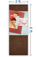 2x5 Vertical Church Banner of The Legacy of Dad