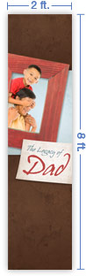 2x8 Vertical Church Banner of The Legacy of Dad