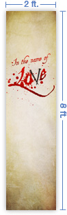 2x8 Vertical Church Banner of Love