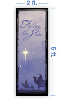 2x5 Vertical Church Banner of Magi