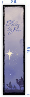 2x8 Vertical Church Banner of Magi