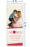 2x5 Vertical Church Banner of Mommy Hug