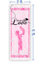 2x5 Vertical Church Banner of Motherly Love