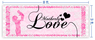 8x3 Horizontal Church Banner of Motherly Love