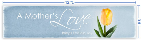 12x3 Horizontal Church Banner of Mother's Love