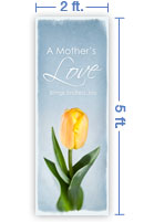 2x5 Vertical Church Banner of Mother's Love