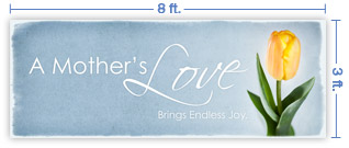 8x3 Horizontal Church Banner of Mother's Love