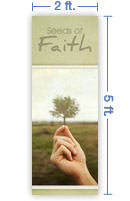 2x5 Vertical Church Banner of Mustard Seed