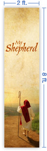 2x8 Vertical Church Banner of My Shepherd