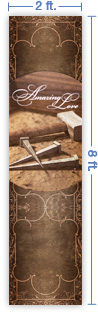 2x8 Vertical Church Banner of Nails