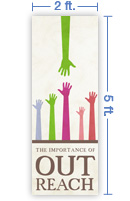 2x5 Vertical Church Banner of OutReach