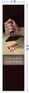 2x8 Vertical Church Banner of Paid in Full