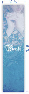 2x8 Vertical Church Banner of Worship - Quiet Place