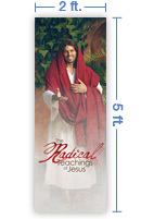 2x5 Vertical Church Banner of Radical Teachings