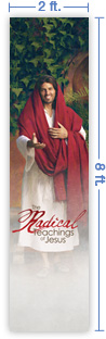 2x8 Vertical Church Banner of Radical Teachings