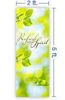 2x5 Vertical Church Banner of Refresh