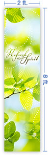 2x8 Vertical Church Banner of Refresh