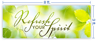 8x3 Horizontal Church Banner of Refresh
