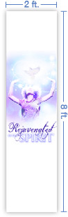 2x8 Vertical Church Banner of Rejuvenated