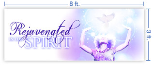 8x3 Horizontal Church Banner of Rejuvenated