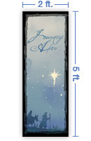 2x5 Vertical Church Banner of Road To Bethlehem