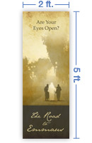 2x5 Vertical Church Banner of Road To Emmaus