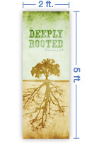 2x5 Vertical Church Banner of Roots