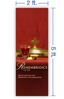 2x5 Vertical Church Banner of Sacrament