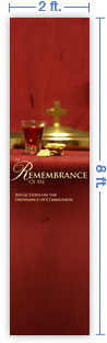 2x8 Vertical Church Banner of Sacrament