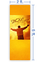 2x5 Vertical Church Banner of Shout To the Lord