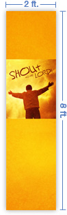 2x8 Vertical Church Banner of Shout To the Lord