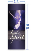 2x5 Vertical Church Banner of Spirit Led