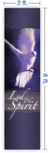 2x8 Vertical Church Banner of Spirit Led