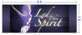 8x3 Horizontal Church Banner of Spirit Led