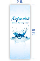 2x5 Vertical Church Banner of Splash
