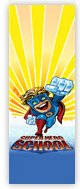 Church Banner of Superhero School