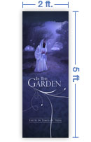 2x5 Vertical Church Banner of The Garden
