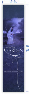 2x8 Vertical Church Banner of The Garden