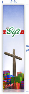 2x8 Vertical Church Banner of The Gift