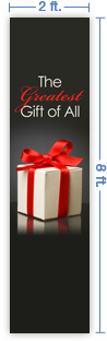 2x8 Vertical Church Banner of The Greatest Gift of All