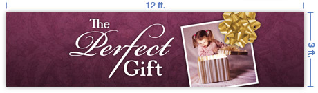 12x3 Horizontal Church Banner of The Perfect Gift