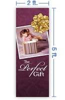 2x5 Vertical Church Banner of The Perfect Gift