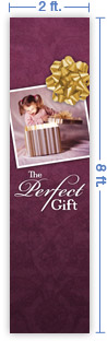 2x8 Vertical Church Banner of The Perfect Gift