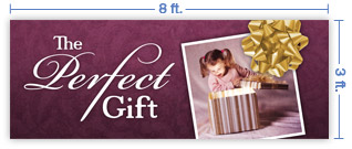 8x3 Horizontal Church Banner of The Perfect Gift