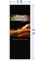 2x5 Vertical Church Banner of The Road to Change