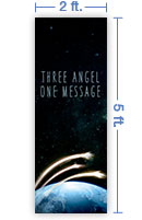 2x5 Vertical Church Banner of Three Angels Message