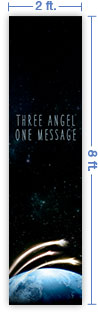 2x8 Vertical Church Banner of Three Angels Message